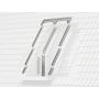 Eindeckrahmen für GEL 78 cm x 140 cm Verblechung Titanzink für profilierte Bedachungsmaterialien bis 120 mm Standard Einbauhöhe (rote Linie)