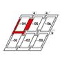 Kombi-Eindeckrahmen a = 100 mm / b = 250 mm 134 cm x 140 cm Verblechung Titanzink für flache Bedachungsmaterialien bis 16 mm (2x8 mm) Standard Einbauhöhe (rote Linie)