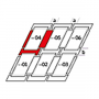 Kombi-Eindeckrahmen a = 100 mm / b = 100 mm 134 cm x 160 cm Verblechung Titanzink für flache Bedachungsmaterialien bis 16 mm (2x8 mm) Standard Einbauhöhe (rote Linie)