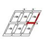 Kombi-Eindeckrahmen b = 250 mm 134 cm x 160 cm Verblechung Titanzink für flache Bedachungsmaterialien bis 16 mm (2x8 mm) Standard Einbauhöhe (rote Linie)