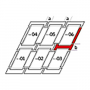 Kombi-Eindeckrahmen b = 100 mm 55 cm x 118 cm Verblechung Titanzink für flache Bedachungsmaterialien bis 16 mm (2x8 mm) Vertiefte Einbauhöhe (blaue Linie)