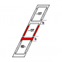 Kombi-Eindeckrahmen b = 250 mm 78 cm x 118 cm Verblechung Aluminium für flache Bedachungsmaterialien bis 16 mm (2x8 mm) Vertiefte Einbauhöhe (blaue Linie)