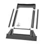 Austausch-Eindeckrahmen 66 cm x 118 cm Verblechung Titanzink für flache Bedachungsmaterialien bis 16 mm (2x8 mm)