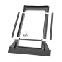 Austausch-Eindeckrahmen 114 cm x 160 cm Verblechung Aluminium für profilierte Bedachungsmaterialien bis 120 mm