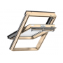 Schwingflügelfenster Holz 55 cm x 78 cm Kiefernholz klar lackiert Verblechung Titanzink Verglasung 3-fach Thermo 2