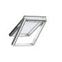 Klappflügelfenster Holz 55 cm x 98 cm Kiefernholz weiss lackiert Verblechung Aluminium Verglasung 3-fach Thermo 2 Plus das Dachfenster für die Schweiz