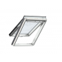 Klappflügelfenster Holz 66 cm x 118 cm Kiefernholz weiss lackiert Verblechung Titanzink Verglasung 3-fach Thermo 2