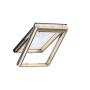 Klappflügelfenster Holz 55 cm x 98 cm Kiefernholz klar lackiert Verblechung Aluminium Verglasung 3-fach Thermo 2 Plus das Dachfenster für die Schweiz