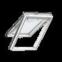 Klappflügelfenster PU 114 cm x 118 cm Polyurethan-Oberfläche mit Holzkern Verblechung Titanzink Verglasung 3-fach Thermo 2 Plus das Dachfenster für die Schweiz