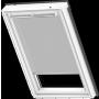 Sichtschutzrollo white line Dunkelbraun 55 cm x 78 cm